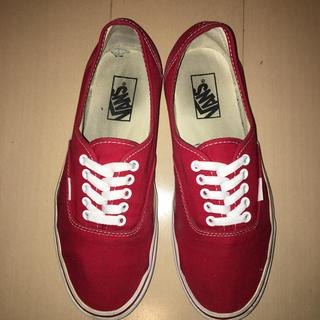 VANS - VANS Authentic RED US規格