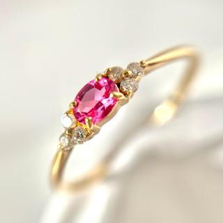 bizoux ピンクスピネル ダイヤモンド リング フラヴィ k18 指輪(リング(指輪))