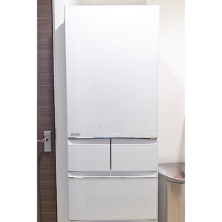 三菱電機 - 三菱 置けるスマート大容量 冷蔵庫 MR-B46C-W