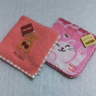 PINK HOUSE - ピンクハウス&GuGu World☆タオルハンカチ2枚セット