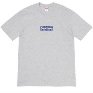 Supreme - 19AW Supreme Bandana Box Logo tee Grey S