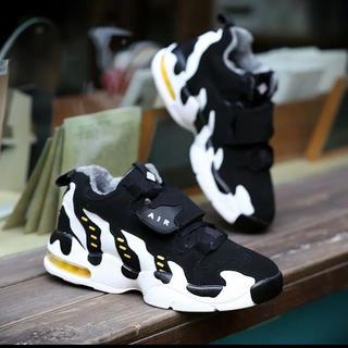 新品 ライン ロゴ 厚底 ダッドスニーカー 靴 配色 白黒 メンズ