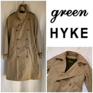 HYKE - 希少 green (現HYKE) ウールライナー付 トレンチコート ベージュ