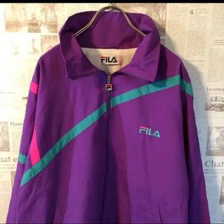 フィラ(FILA)のFILA ナイロンジャケット 90s 刺繍 マルチカラー(ナイロンジャケット)