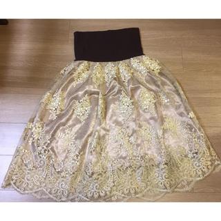 axes femme - レース スカラップ スカート