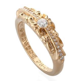 クロムハーツ(Chrome Hearts)のCHROME HEARTS★22K GOLD DIAMOND RING(リング(指輪))