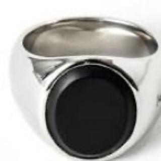 マルタンマルジェラ(Maison Martin Margiela)のトムウッド ブラックオニキス リング(リング(指輪))