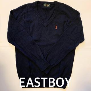 イーストボーイ(EASTBOY)の【価格応相談】EAST BOY/イーストボーイ Vネックセーター 紺 11号(カーディガン)