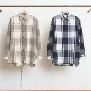 UNUSED - unused 16aw チェックシャツ ネイビー サイズ2