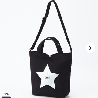 Lee - 新品未使用 Lee スタープリントトート ショルダー ブラック マザーズバッグ