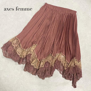 axes femme - 【axes femme】レースプリーツスカート アクシーズファム
