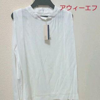 アウィーエフ(AuieF)のAuie F ノースリーブブラウス Yシャツ 新品未使用  夏コーデ 大人女子(シャツ/ブラウス(半袖/袖なし))