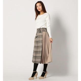 MISCH MASCH - ミッシュマッシュ チェック柄部分プリーツスカート