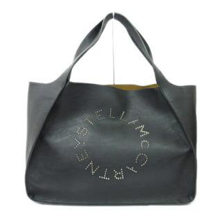 ステラマッカートニー(Stella McCartney)のステラマッカートニー スタッズ ロゴ トートバッグ ブラック(トートバッグ)