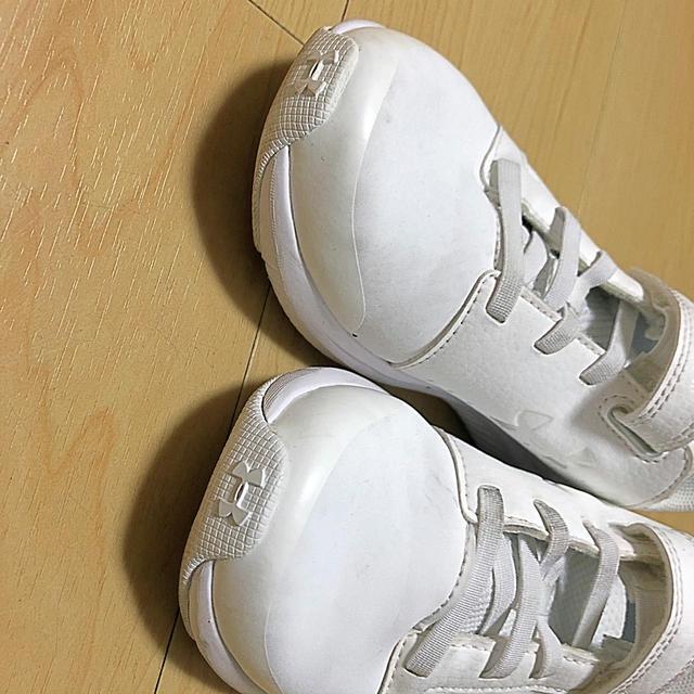 UNDER ARMOUR(アンダーアーマー)のUNDER ARMOURアンダーアーマー Kids 19cm ホワイト 白 キッズ/ベビー/マタニティのキッズ靴/シューズ(15cm~)(スニーカー)の商品写真
