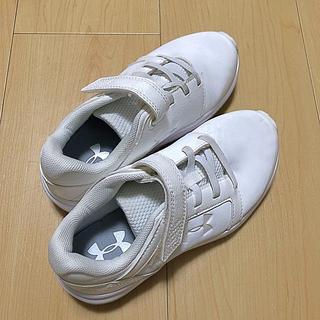 UNDER ARMOUR - UNDER ARMOURアンダーアーマー Kids 19cm ホワイト 白