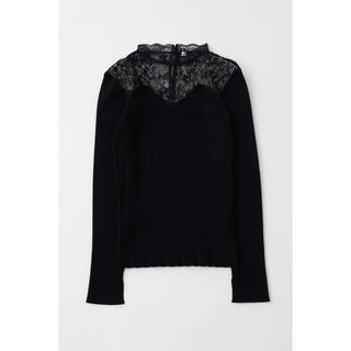 moussy - 新品 MOUSSY  マウジー LACE KNIT COMBI トップス