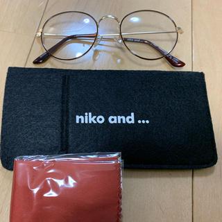 ニコアンド(niko and...)のniko and… オリジナルダテメガネ 細リムラウンド(サングラス/メガネ)