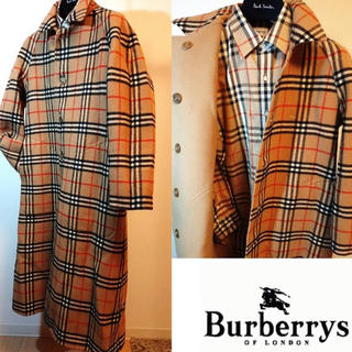 BURBERRY - ヴィンテージ Burberry's リバーシブル ウールコート 値段交渉受付中