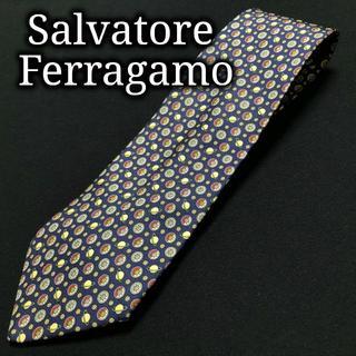 サルヴァトーレフェラガモ(Salvatore Ferragamo)のフェラガモ プラネット ネイビー ネクタイ A102-R12(ネクタイ)