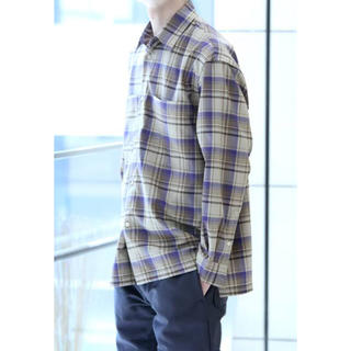 【AURALEE】SUPER LIGHT WOOL CHECK SHIRT