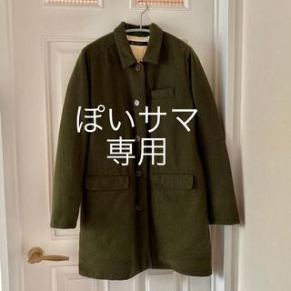 パーリッシィ(PAR ICI)の【美品】モスグリーン ウール混コート(ロングコート)