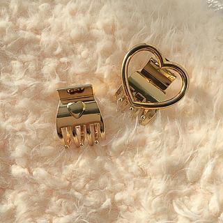 Lochie - 🆕vintage gold heart hair clip 💕☞mini