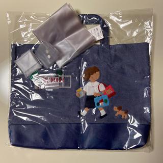 familiar - ファミリア バッグ デニム 限定品 防水カバー付