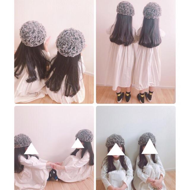 茶*モコモコファー帽子 キッズ/ベビー/マタニティのこども用ファッション小物(帽子)の商品写真