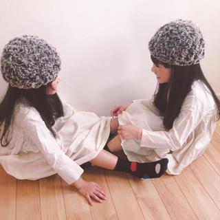 茶*モコモコファー帽子(帽子)