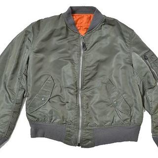 アルファ(alpha)の◆ALPHA◆sizeL made in USA MA1 jacket(フライトジャケット)