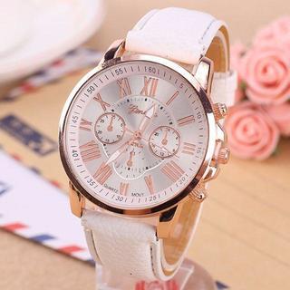 大人で可愛い 腕時計 これからの季節に♪【ホワイト】 即購入OK!ペア割あり(腕時計)