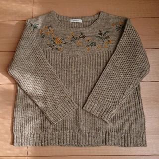 ソルベリー(Solberry)の花刺繍 ニットカットソー solberry(ニット/セーター)