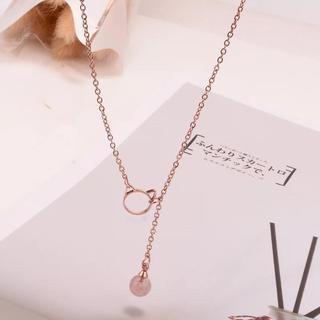 ステンレスネックレス ネコマーク ステンレスチェーン 鎖骨ネックレス(ネックレス)