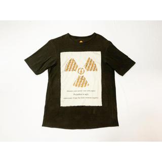 ヴィスヴィム(VISVIM)の定価20000円 30%off 硫化染め綿麻Tシャツ / Ink brown(Tシャツ/カットソー(半袖/袖なし))