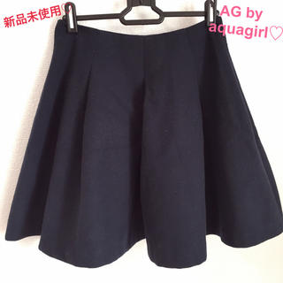 AG by aquagirl - 【新品未使用】1/21まで値下げ♡エージーバイアクアガール♡スカート♡ネイビー