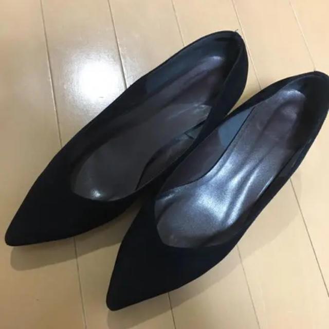 ESPERANZA(エスペランサ)のエスペランサ ポインテッドトゥパンプス ブラック レディースの靴/シューズ(ハイヒール/パンプス)の商品写真