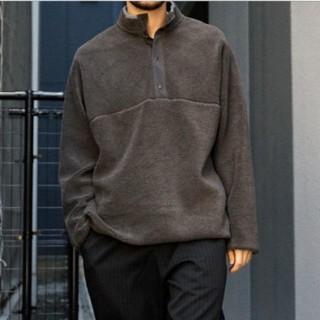 COMOLI - Graphpaper Wool Boa Hi-Neck Pulloverグレー