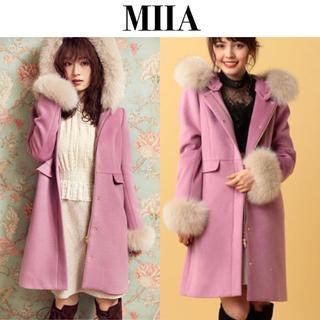 MIIA - MIIAフォックスファーコート★ミーア/ラベンダーピンク
