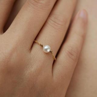 ete - 新入荷✳︎ 淡水真珠 ライドゴールド14k リング