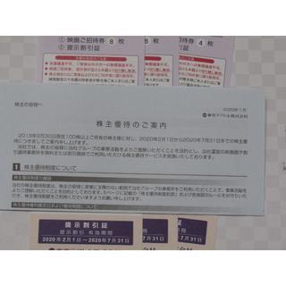 東京テアトル 20枚 株主優待券