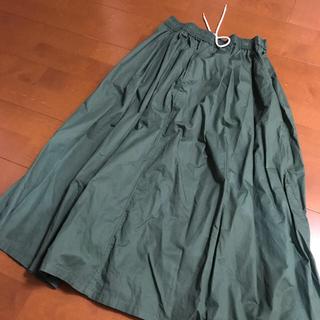 スタディオクリップ(STUDIO CLIP)のSTUDIOCLIPグリーンスカート(ロングスカート)
