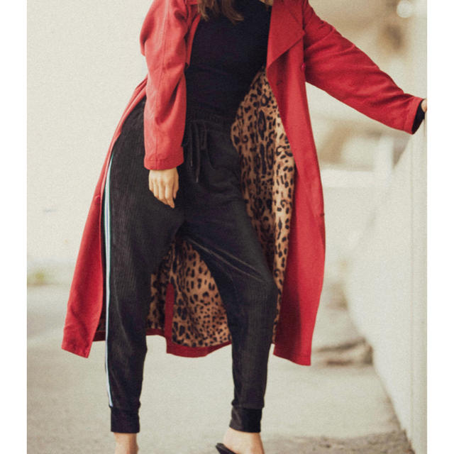 GYDA(ジェイダ)のジェイダ ストレッチラインパンツ ブラック レディースのパンツ(カジュアルパンツ)の商品写真