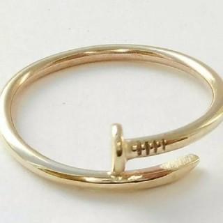 アヴァランチ(AVALANCHE)の14K イエローゴールド ネイルリング 釘 新品 海外購入 15号~16号 (リング(指輪))