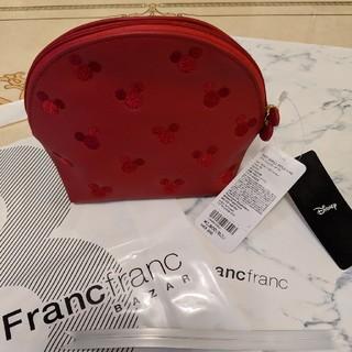 Francfranc - Francfranc ディズニー シエル型ポーチ レッド