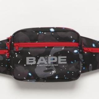A BATHING APE - BAPE SPACE CAMO WAIST BAG