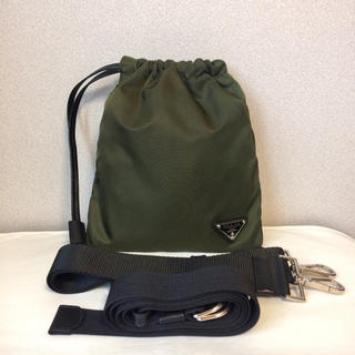PRADA - 【美品】PRADA ショルダーバッグ ウエストバッグ  巾着バッグ 3way