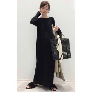 L'Appartement DEUXIEME CLASSE - 新品☆L'Appartement Rib Knit ワンピース ブラック
