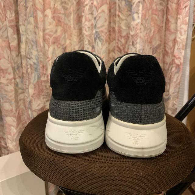 Emporio Armani(エンポリオアルマーニ)の美品 EMPORIO ARMANI エンポリオアルマーニ レザースニーカー メンズの靴/シューズ(スニーカー)の商品写真