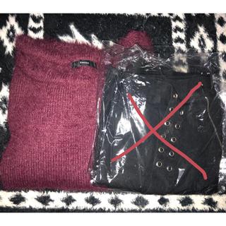 エモダ(EMODA)のエモダ 福袋 シャギーニット ベルト付き スカート(ミニスカート)